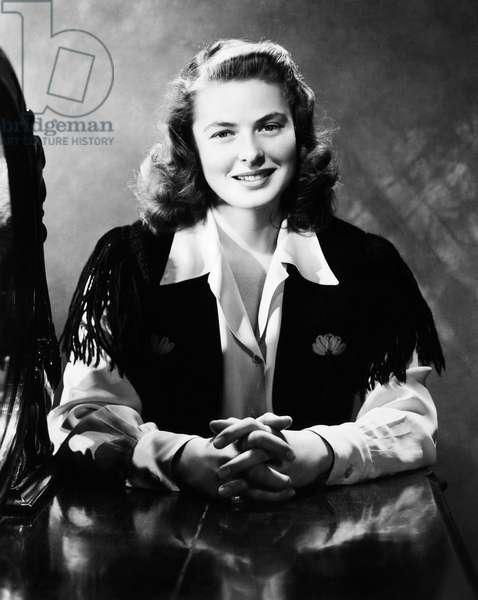 INGRID BERGMAN (1915-1982) Swedish actress.