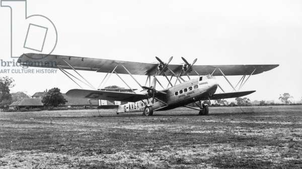 IMPERIAL AIRWAYS 'HANNIBAL.' 'Hannibal,' a Handley Page H.P. 42 biplane for Imperial Airways, the early commercial British airline. Photographed 1931.