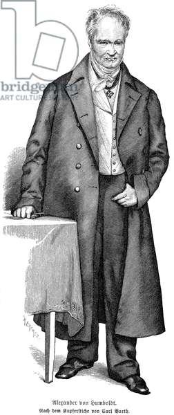 ALEXANDER von HUMBOLDT (1769-1859). German naturalist. Line engraving, 19th century.