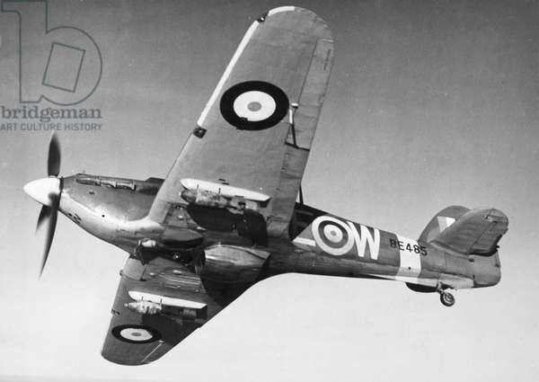 HAWKER HURRICANE, 1942 A Hawker Hurricane fighter aircraft of the British Royal Air Force, 1942.