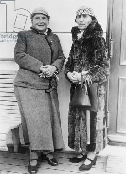STEIN AND TOKLAS Gertrude Stein with her companion, Alice B. Toklas: photograph, n.d.