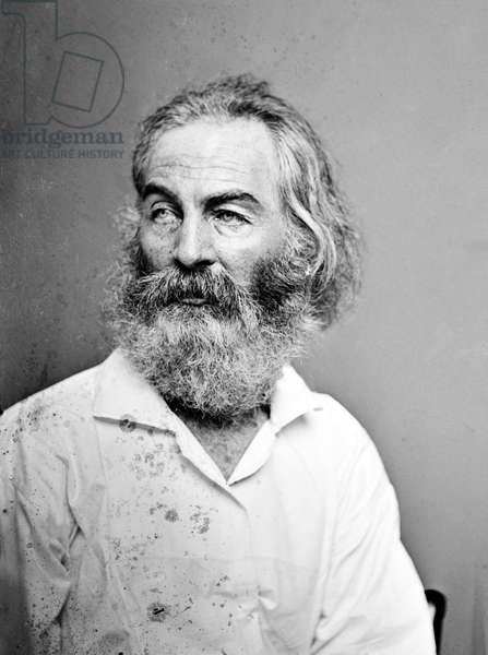 WALT WHITMAN (1819-1892) American poet. Photographed c.1860.