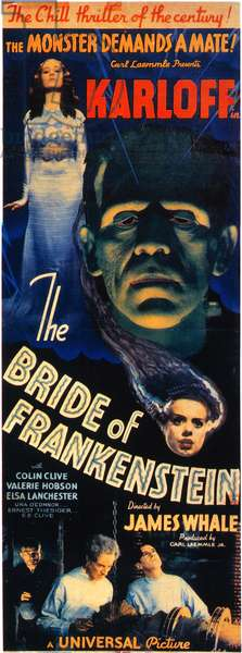 BRIDE OF FRANKENSTEIN 1935 The Bride of Frankenstein film poster, 1935.