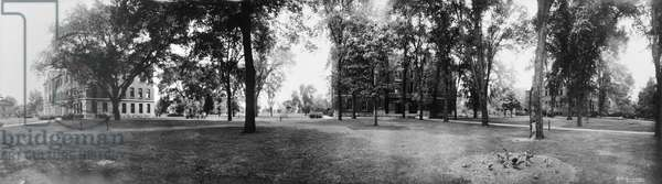 ILLINOIS: KNOX COLLEGE, c.1914 Panoramic view of the campus of Knox College in Galesburg, Illinois. Photograph, c.1914.