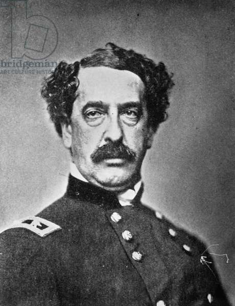 ABNER DOUBLEDAY (1819-1893) American army officer. Photographed by Mathew Brady during the American Civil War.