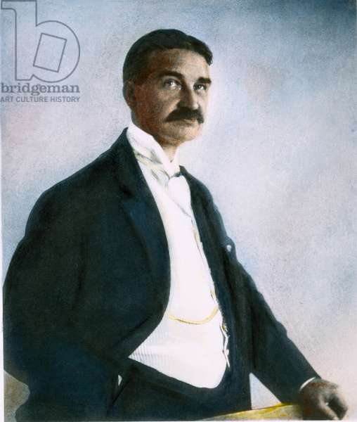 LYMAN FRANK BAUM (1856-1919). American writer: oil over a photograph.