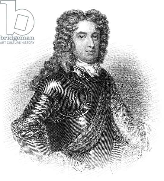 JOHN CHURCHILL (1650-1722) 1st Duke of Marlborough. English military commander. Steel engraving, 19th century, after Sir Godfrey Kneller.