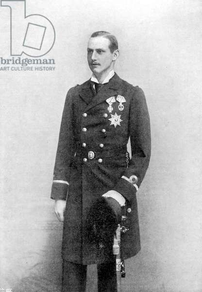 HAAKON VII (1872-1957). King of Norway, 1905-1957; photographed in 1895 when Prince Carl of Denmark.