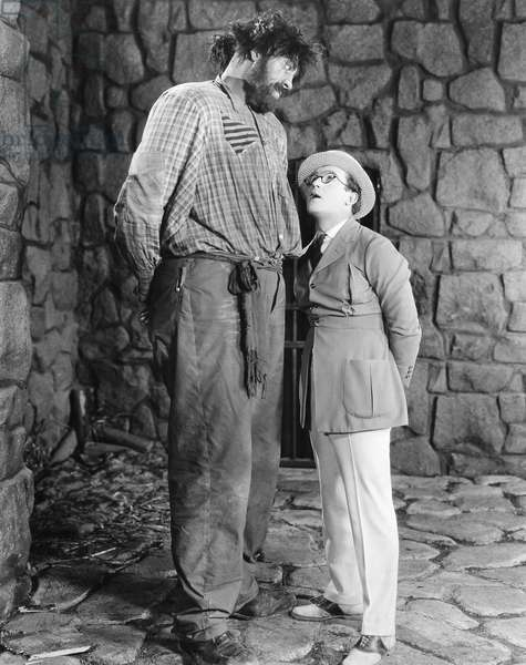 SILENT FILM: WHY WORRY? John Aasen (left) and Harold Lloyd in the silent film of 1923, 'Why Worry?'