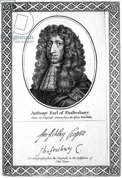 BARON SHAFTESBURY (1621-1683). 1st Baron and Earl of Shaftesbury, Anthony Ashley Cooper. English philanthropist and statesman.