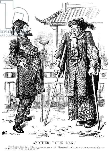 TURKEY: ANOTHER SICK MAN An 1898 cartoon by Sir John Tenniel on the 'sick man of Europe' consoling the 'sick man of Asia.'