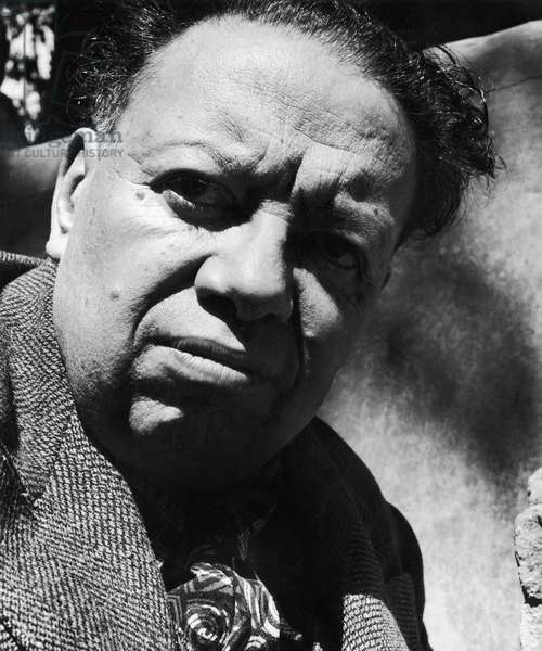 DIEGO RIVERA (1886-1957) Mexican painter. Photographed by Fritz Henle, 1940.