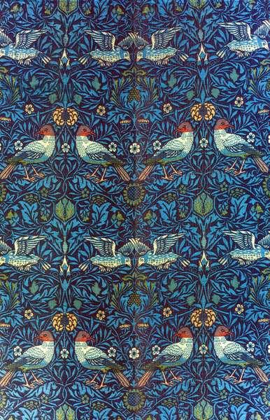 MORRIS: BIRD FABRIC, 1878 'Bird' double woven wool fabric designed by William Morris, 1878.