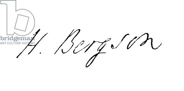 HENRI BERGSON (1859-1941) French philosopher. Autograph signature.