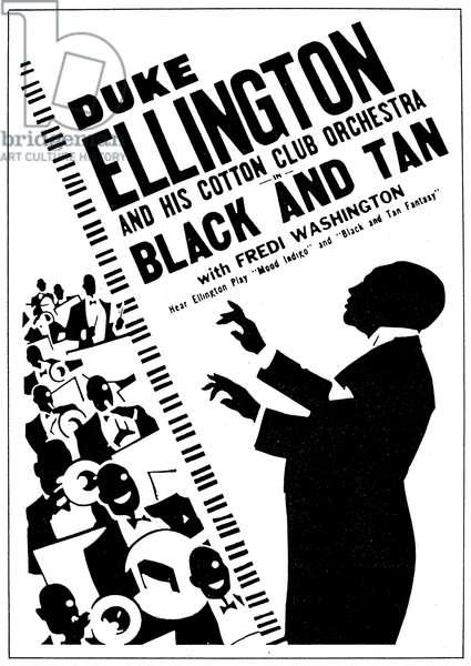 DUKE ELLINGTON (1899-1974). American musician and composer. Poster for Duke Ellington and his Cotton Club Orchestra, 1930s.