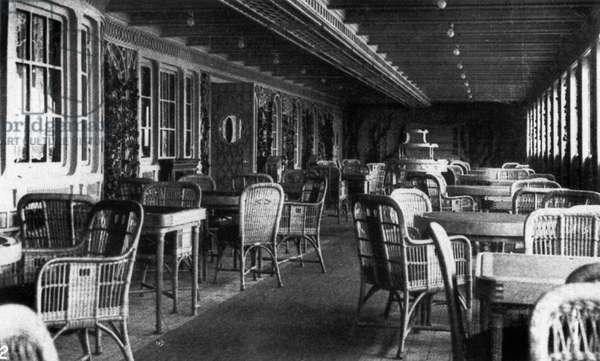 "TITANIC: PARISIAN CAFE, 1912 The Parisian Cafe of the ""Titanic,"" 1912."