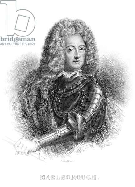 JOHN CHURCHILL (1650-1722) 1st Duke of Marlborough. English military commander. Steel engraving, French, 19th century.