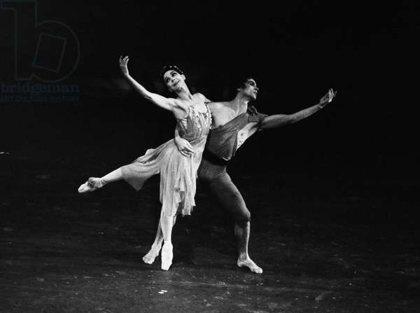 RUDOLF NUREYEV (1938-1993) Russian ballet dancer. With Dame Margot Fonteyn in 1975.