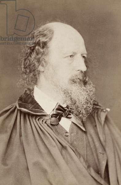 ALFRED TENNYSON (1809-1892). 1st Baron Tennyson. English poet. Original cabinet photograph, c.1880.