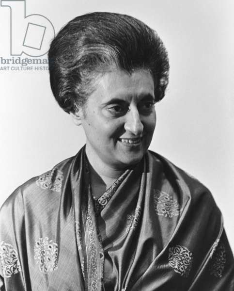 INDIRA NEHRU GANDHI (1917-1984). Indian political leader. Photograph, 1968.