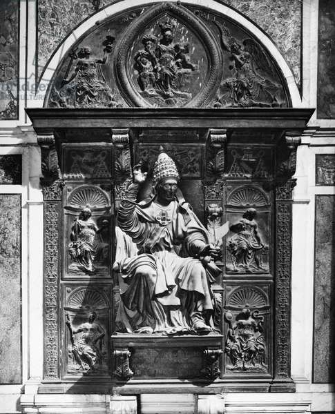 INNOCENT VIII (1432-1492) Pope 1484-1492. Monument to Pope Innocent at St. Peter's Basilica in Rome, Italy. Photograph, mid-20th century.