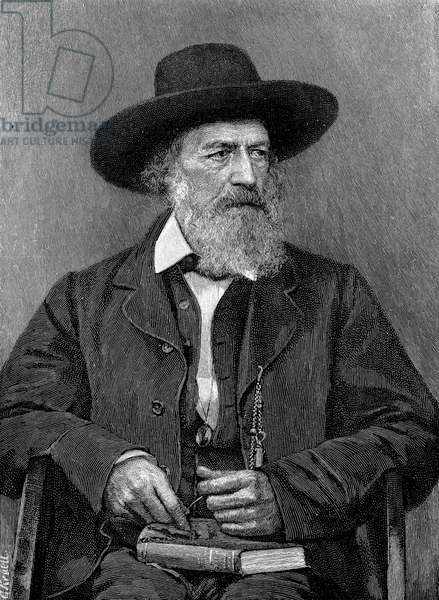 ALFRED TENNYSON (1809-1892) 1st Baron Tennyson. English poet. Wood engraving after a photograph, 1888.