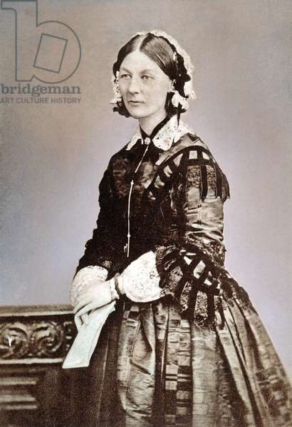 FLORENCE NIGHTINGALE (1820-1910). English nurse, hospital reformer and philanthropist.