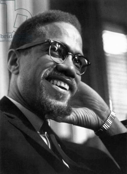 MALCOLM X (1925-1965) Originally Malcolm Little. American religious and political leader. Photograph, mid 20th century.