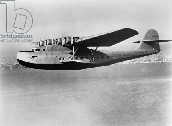 MARTIN FLYING BOAT, c.1937 A Martin M-130 flying boat operated by Pan American Airways. Photograph, c.1937.