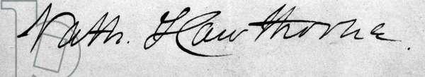 NATHANIEL HAWTHORNE (1804-1864). American writer. Undated signature.