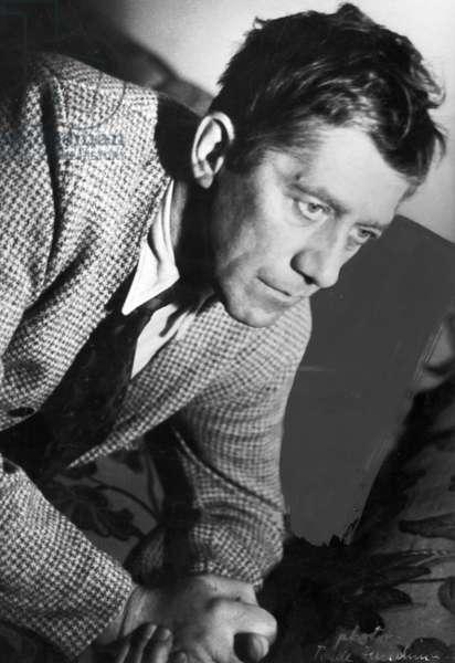 OSKAR KOKOSCHKA (1886-1980) Austrian painter and dramatist. Photographed in the 1930s by Trude Fleischmann.