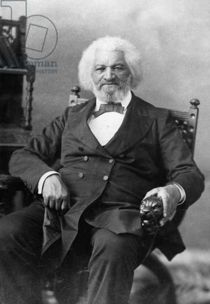 FREDERICK DOUGLASS ( c.1817-1895). American abolitionist. Photograph, late 19th century.