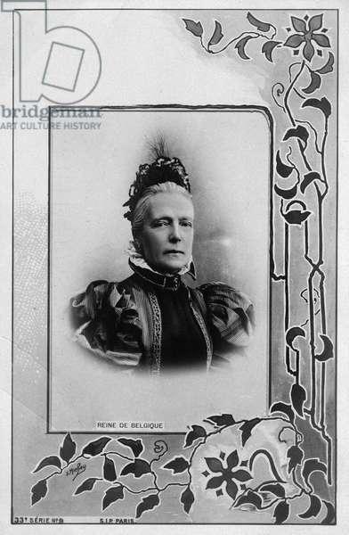 MARIE HENRIETTE OF AUSTRIA (1836-1902). Queen consort of King Leopold II of Belgium. Photo postcard, c.1900.