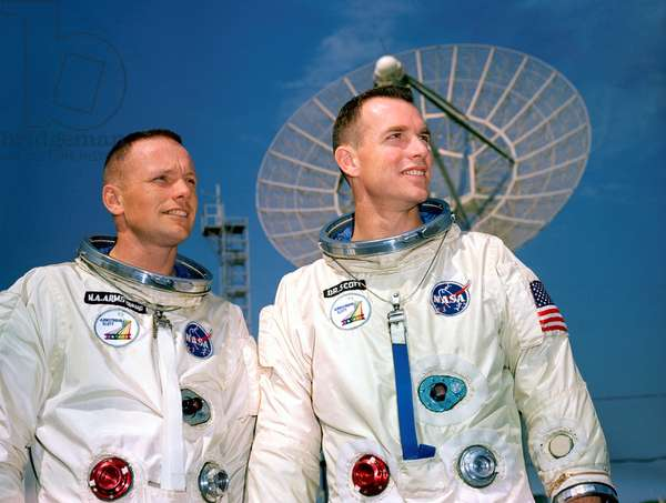 GEMINI 8: ASTRONAUTS, 1966 American astronauts Neil Armstrong and David Scott, crew of the Gemini 8 mission. Photograph, 11 March 1966.