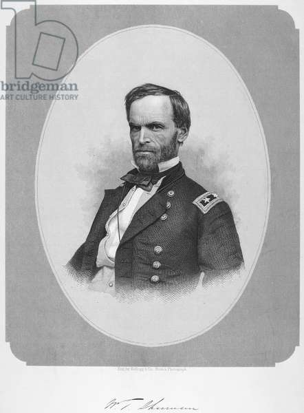 WILLIAM TECUMSEH SHERMAN (1820-1891). American army commander. Steel engraving, c.1865, after a photograph.