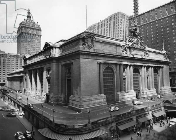 GRAND CENTRAL STATION A view of Grand Central Station in New York City. Photograph, c.1940.