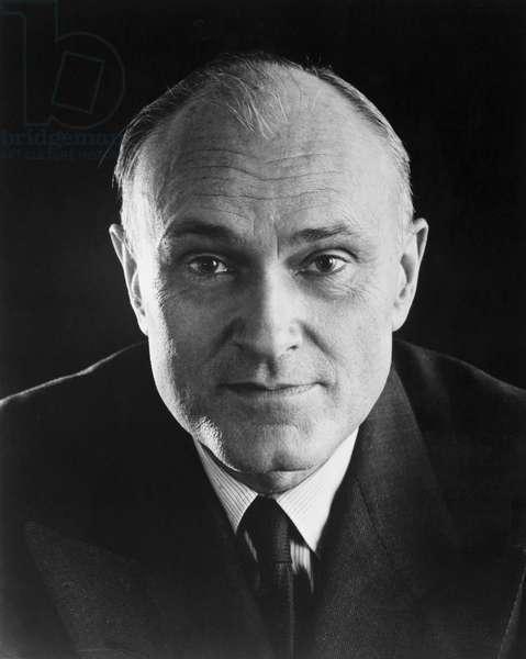 PHILIP JOHNSON (1906-2005) American architect and historian. Photograph, c.1957.