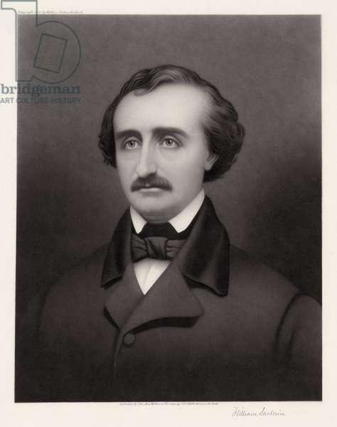 EDGAR ALLAN POE (1809-1849) American writer. Mezzotint by William Sartain, c.1896.