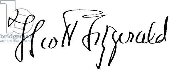 F. SCOTT FITZGERALD (1896-1940). Francis Scott Key Fitzgerald. American writer. Autograph signature.