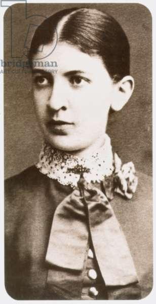 MARTHA FREUD (1861-1951) Nee Bernays; wife of Sigmund Freud. Photographed in 1884.