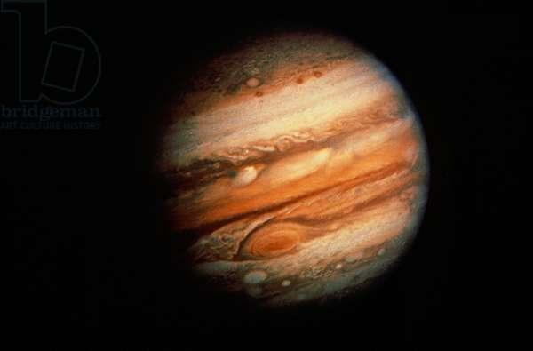 JUPITER Voyager 1 photograph of Jupiter from 30 million miles distance.