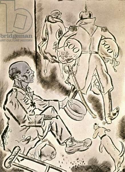 Officer and veteran, 1923 (cartoon)
