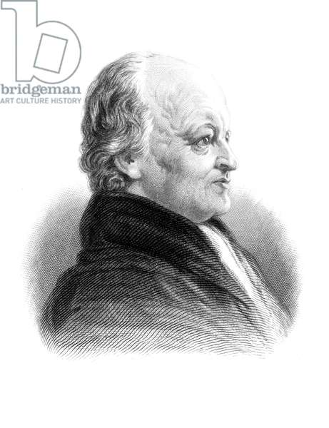 WILLIAM BLAKE (1757-1827) English artist, poet, and mystic. Steel engraving after a miniature by John Linnell.