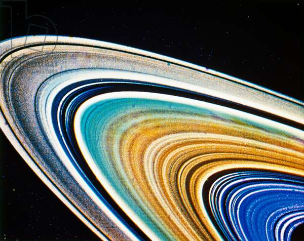 SATURN: RINGS The rings of Saturn, photographed by a NASA spacecraft, c.1980.