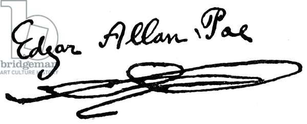 EDGAR ALLAN POE (1809-1849) American writer. Autograph signature.
