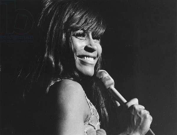 TINA TURNER (1939-) American singer Tina Turner performs at Las Vegas in 1969.