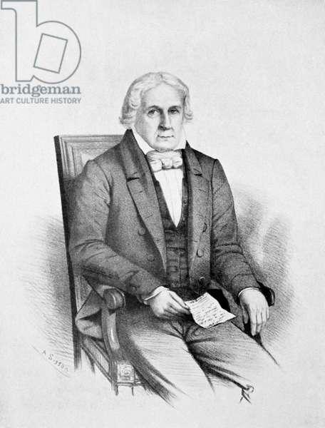 JOSÉ B. ANDRADA E SILVA (1763?-1838). Brazilian statesman, scientist and poet. Lithograph, Brazilian, 19th century.