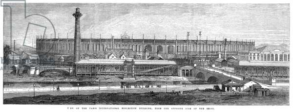PARIS EXPOSITION, 1867 'View of the Paris International Exhibition building, from the opposite side of the Seine.' Engraving, 1867.