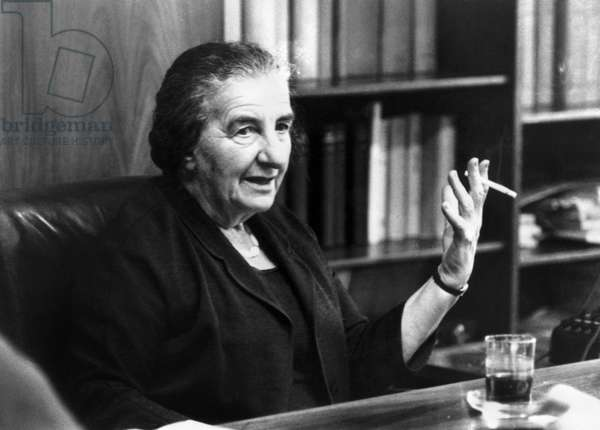 GOLDA MEIR (1898-1978) Israeli stateswoman and Prime Minister. Photograph, 1969.