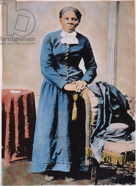 HARRIET TUBMAN ( c.1820-1913) American abolitionist. Oil over a photograph, c.1870.